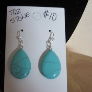 Hand crafted turquoise stone earrings